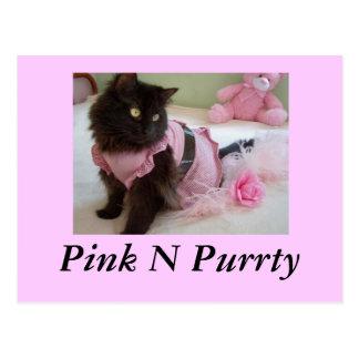 pink n purrty, Postcard