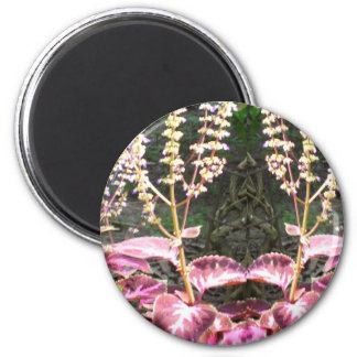 Pink n Silver Floral TEMPLATE Refrigerator Magnets