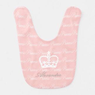 Pink-n-White Princess Bib