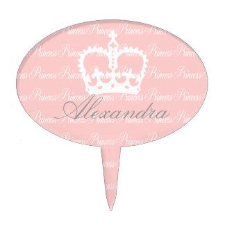 Pink-n-White Princess Cake Pick