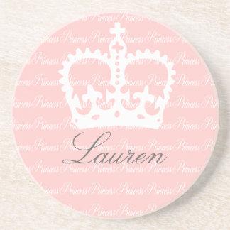 Pink-n-White Princess Coasters