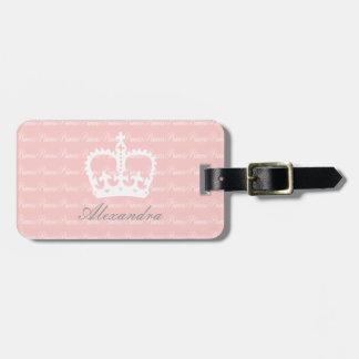 Pink-n-White Princess Custom Luggage Tag