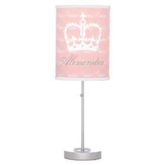 Pink-n-White Princess Desk Lamp