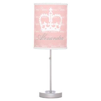 Pink-n-White Princess Desk Lamp