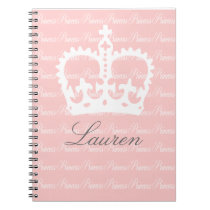 Pink-n-White Princess Notebook