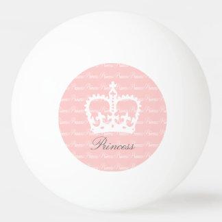 Pink-n-White Princess Ping-Pong Ball