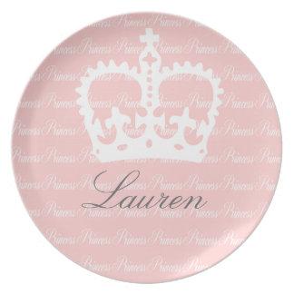 Pink-n-White Princess Party Plates