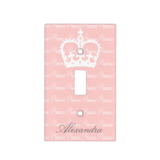 Pink-n-White Princess Switch Plate Covers