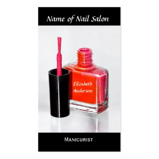 Pink Nail Polish Manicurist at Nail Salon Double-Sided Standard Business Cards (Pack Of 100)