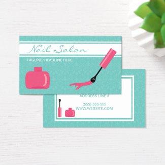 Pink Nail Polish Nail Art Studio Business Card