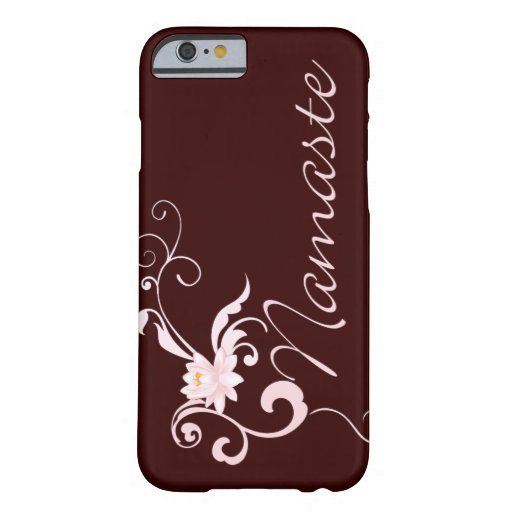 Pink Namaste with scrolls and swirls Barely There iPhone 6 Case