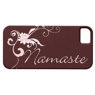 Pink Namaste with scrolls and swirls iPhone SE/5/5s Case