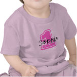 Pink Name and Age Birthday T-shirt