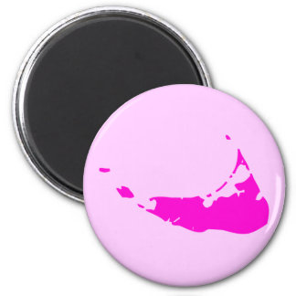 Pink Nantucket Island Fridge Magnet