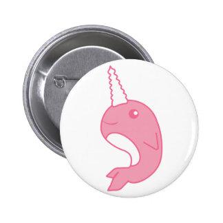 Pink Narwhal Pinback Button
