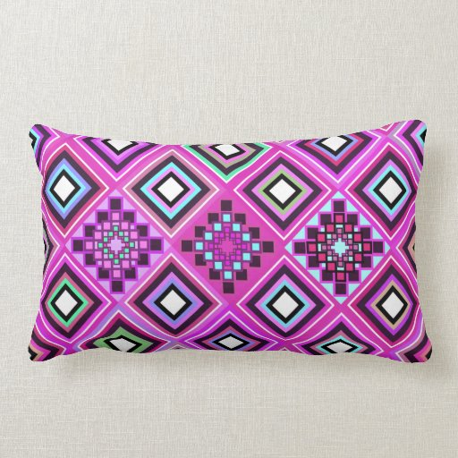 Pink Native Inspired Throw Pillows