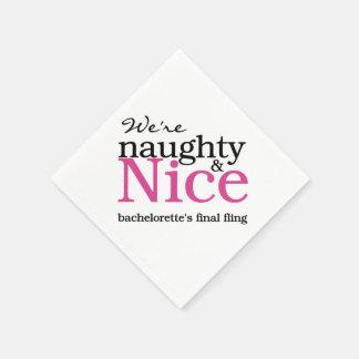 Pink Naughty & Nice Final Fling Paper Napkins