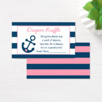 Pink Nautical Anchor Diaper Raffle Tickets