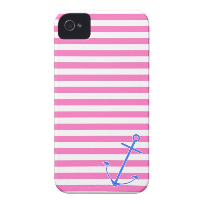 Pink Nautical Anchor iPhone 4 Case