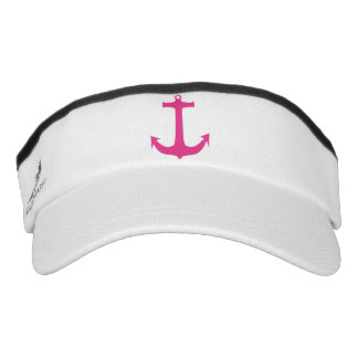 Pink Nautical Anchor Sport Sun Visor Headsweats Visor