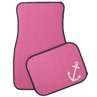 Pink Nautical Love Anchor Car Mat