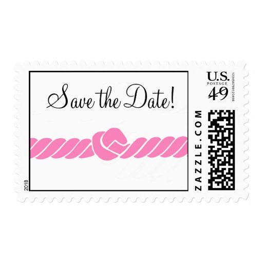 Pink Nautical Save the Date Stamps