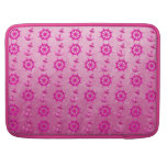 Pink Nautical Ships Wheel And Anchor MacBook Pro Sleeves