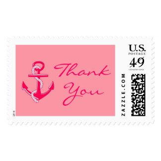 Pink Nautical Thank You Anchor Stamps