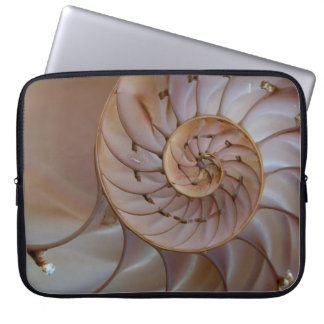 Pink nautilus laptop sleeve