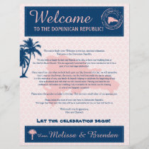 Pink & Navy Dominican Republic Welcome Letter