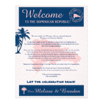 Pink & Navy Dominican Republic Welcome Letter Letterhead