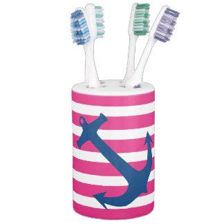 Pink Navy Nautical Anchor Bathroom Accessory Set Bathroom Set