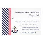 Pink Navy Nautical Anchor RSVP Response Cards