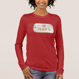 Pink Navy Sister Dog tag Long Sleeve T-Shirt