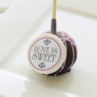 Pink Navy Wedding Love Is Sweet Custom Cake pops