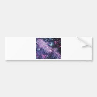 Pink Nebula Etiqueta De Parachoque