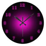 "Pink Neon 10.75"" Round Wall Clock"