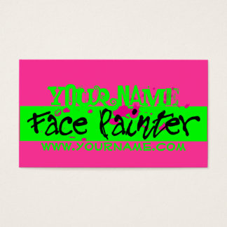 Pink Neon Business Card