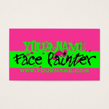 Professional Business Pink Neon Business Card