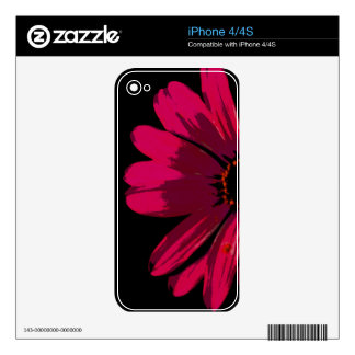 Pink Neon Daisy Skin For The iPhone 4S