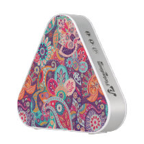Pink neon Paisley floral pattern Bluetooth Speaker
