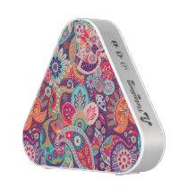 Pink neon Paisley floral pattern Bluetooth Speaker