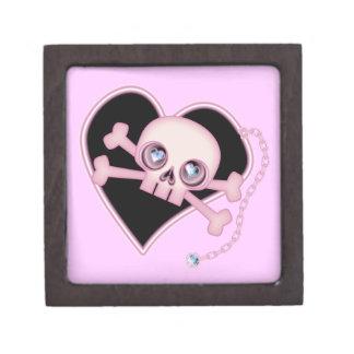 Pink Neon Skull Jewelry Box