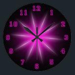 "Pink Neon Star 10.75&quot; Large Clock<br><div class=""desc"">Neon Wall Clock</div>"