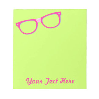 Pink Nerd Glasses Notepad