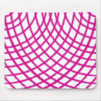 Pink Netting Mouse Pad