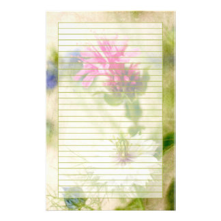Pink Nigella Flower Photography Victorian Lined Stationery