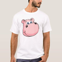 Pink Nilpferd with large eyes T-Shirt