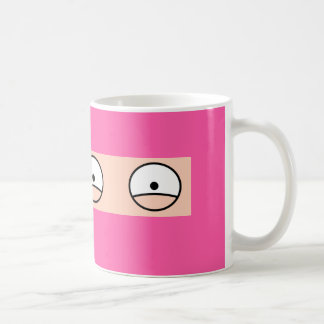 "PINK NINJA Cartoon ""Silent but Deadly"" Mug"