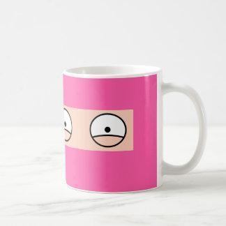 "PINK NINJA Cartoon ""Silent but Deadly"" Mug"